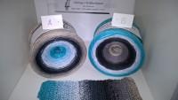 093 Eisblauer Fluorit I Bobbel - 4fädig 7 Farben mit u. ohne Lurex - LL von 760 m bis 1500 m wählbar