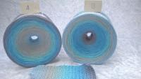 123 Aquamarin - Bobbel - 4fädig 5 Farben - LL von 380 m bis 1500 m wählbar