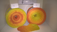 237 Bratapfel - Farbverlaufsgarn - 4fädig 3 Farben - Lauflänge von 380 m bis 1500 m wählbar