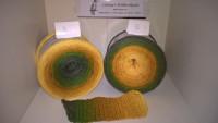 214 Sonnenblume - Bobbel - 4fädig 4 Farben - Lauflänge von 380 m bis 1500 m wählbar