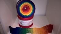 Regenbogen dunkel 090 Bobbel - 4fädig 6 Farben - von 380 m bis 1500 m